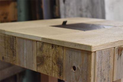 Bild på Mingelbord med ek och läder