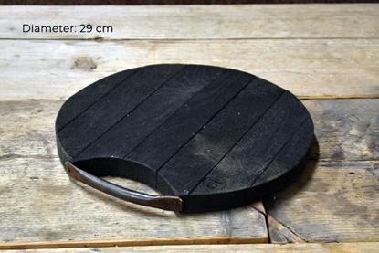 Bild på Rund bricka/skärbräda i svartek