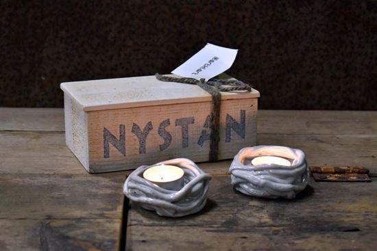 Bild på Nystan- Ljuslykta - vit