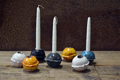 Bild på Ljusstake av keramikkula